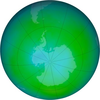 Antarctic ozone map for 1981-02