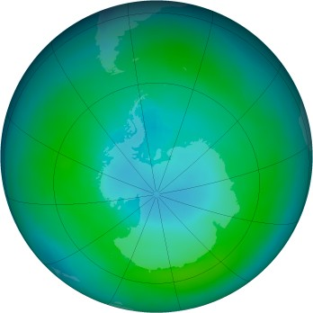 Antarctic ozone map for 1981-03