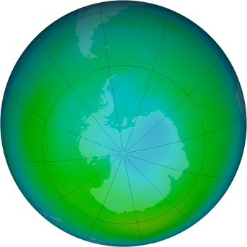 Antarctic ozone map for 1981-04