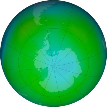 Antarctic ozone map for 1981-05