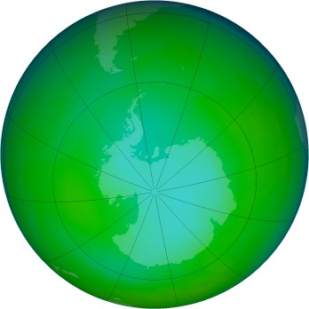 Antarctic ozone map for 1981-06