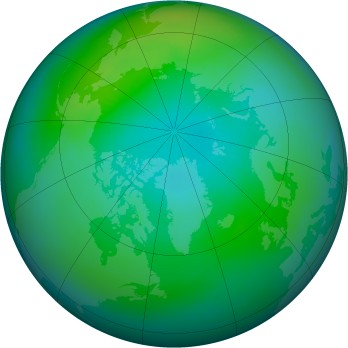 Arctic ozone map for 1981-10