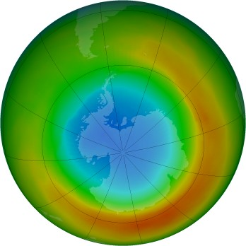 Antarctic ozone map for 1981-10