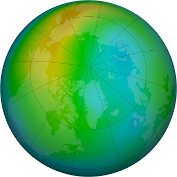 Arctic ozone map for 1981-11