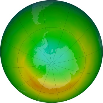 Antarctic ozone map for 1981-11