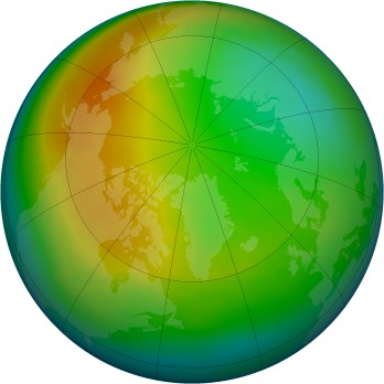 Arctic ozone map for 1981-12