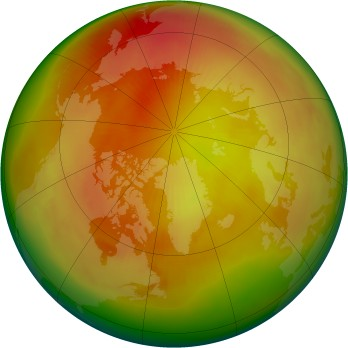 Arctic ozone map for 1982-03