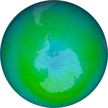 Antarctic ozone map for 1982-03