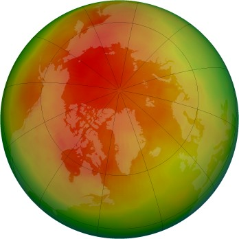 Arctic ozone map for 1982-04