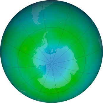 Antarctic ozone map for 1982-04