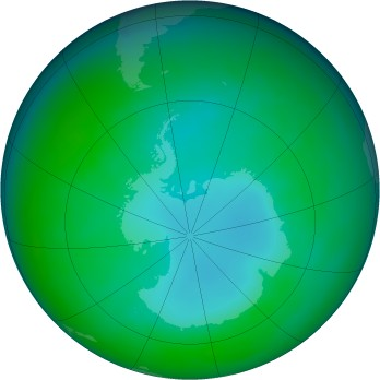 Antarctic ozone map for 1982-05