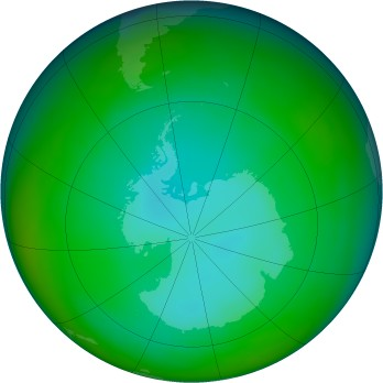 Antarctic ozone map for 1982-06