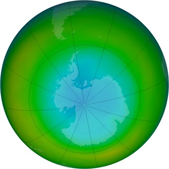 Antarctic ozone map for 1982-08