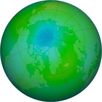 Arctic ozone map for 1982-09