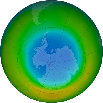 Antarctic ozone map for 1982-09