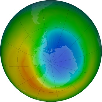 Antarctic ozone map for 1982-10