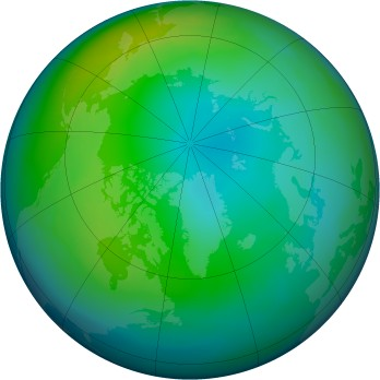 Arctic ozone map for 1982-11