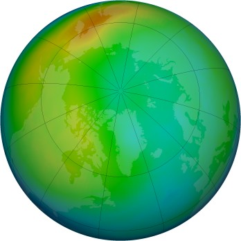 Arctic ozone map for 1982-12