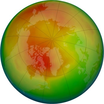 Arctic ozone map for 1983-03