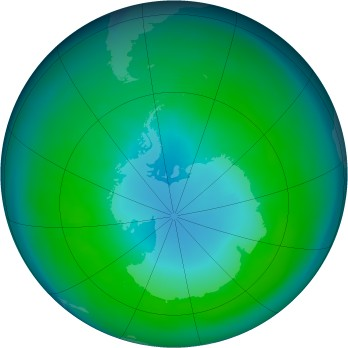 Antarctic ozone map for 1983-04