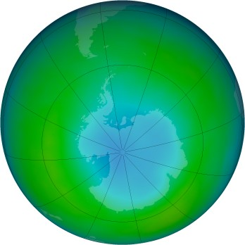 Antarctic ozone map for 1983-05