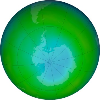 Antarctic ozone map for 1983-06
