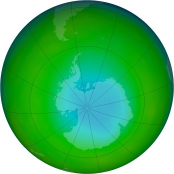 Antarctic ozone map for 1983-07