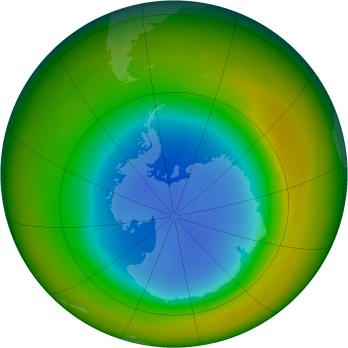 Antarctic ozone map for 1983-09