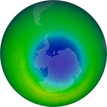 October 1983 monthly mean Antarctic ozone