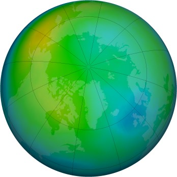 Arctic ozone map for 1983-11