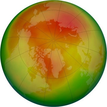 Arctic ozone map for 1984-04