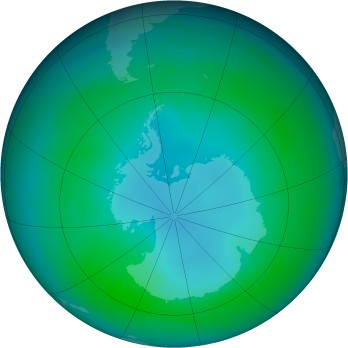 Antarctic ozone map for 1984-04