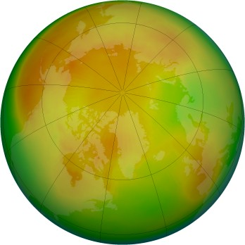 Arctic ozone map for 1984-05