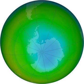 Antarctic ozone map for 1984-07