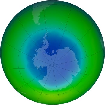 September 1984 monthly mean Antarctic ozone