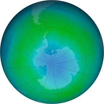 Antarctic ozone map for 1985-04