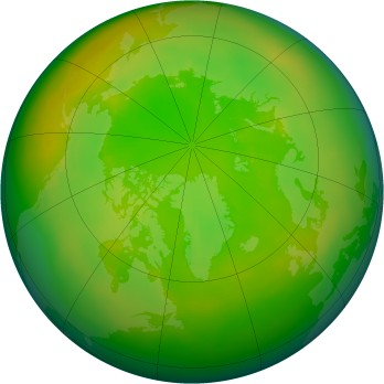 Arctic ozone map for 1985-06