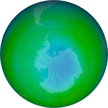 Antarctic ozone map for 1985-07