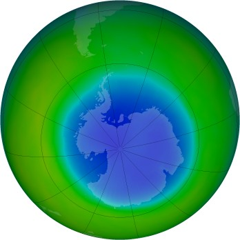Antarctic ozone map for 1985-09