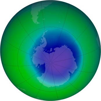 October 1985 monthly mean Antarctic ozone
