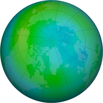 Arctic ozone map for 1985-10