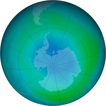 Antarctic ozone map for 1986-03