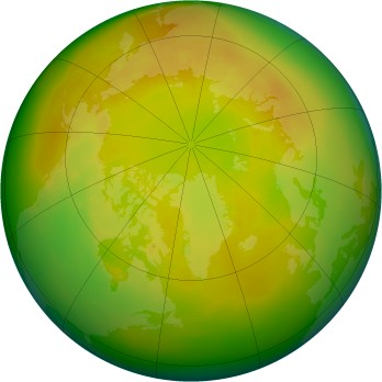Arctic ozone map for 1986-05