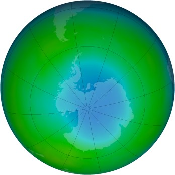 Antarctic ozone map for 1986-06