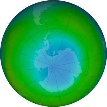 Antarctic ozone map for 1986-07