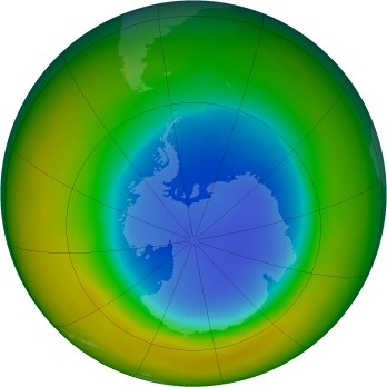 Antarctic ozone map for 1986-09