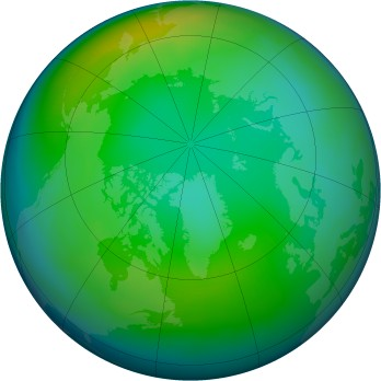 Arctic ozone map for 1986-11