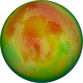 Arctic ozone map for 1987-04