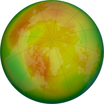 Arctic ozone map for 1987-05