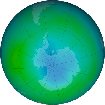 Antarctic ozone map for 1987-05